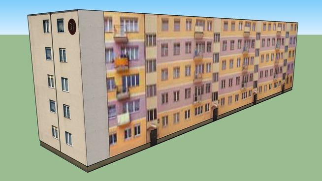 Blok Kołobrzeska 31 w Gdańsku - 3D