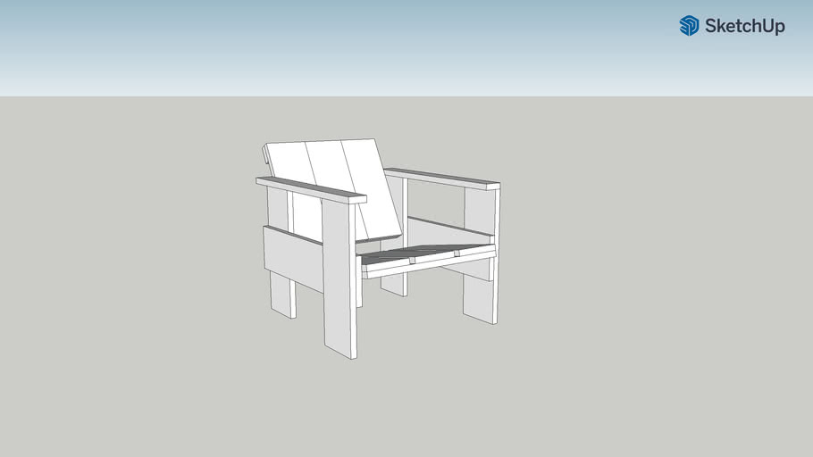 Gerrit Rietveld Crate Armchair