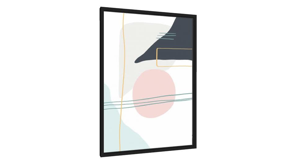 Quadro Abstrato Minimalista - Galeria9, por Rachel Moya