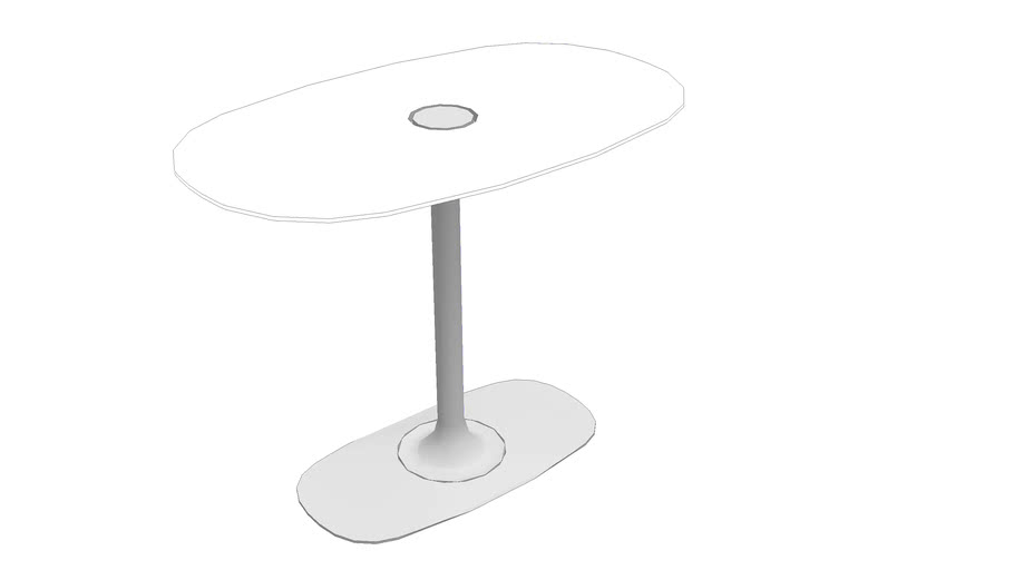 Denizen Oval Table w/ Power (Standing Height)