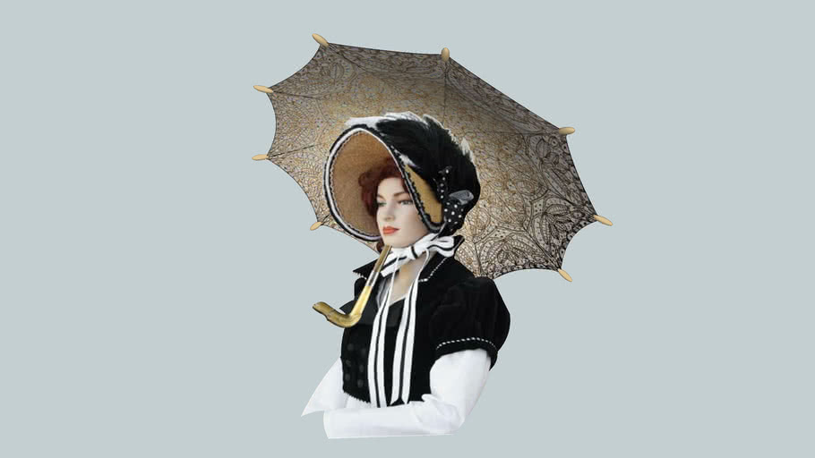 """Victorian Parasol""  ... Lace Finish..."
