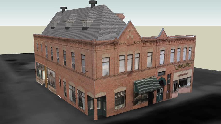 Harrington Opera House - Bank Building Block - 1904