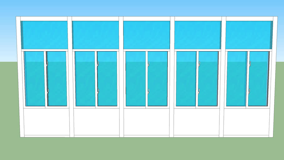 9x20 front wall glass