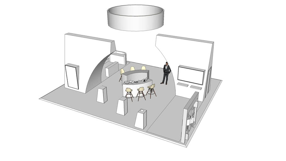 9m x 11m Exhibition Stand Design/Concept