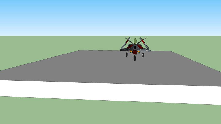 Diodus class short range close combat strike fighter landed