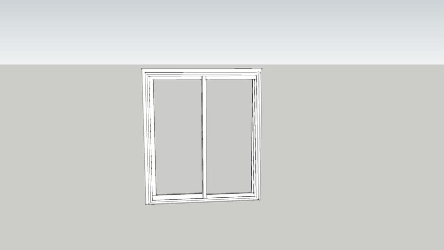 Double Hung window for professional use 3D