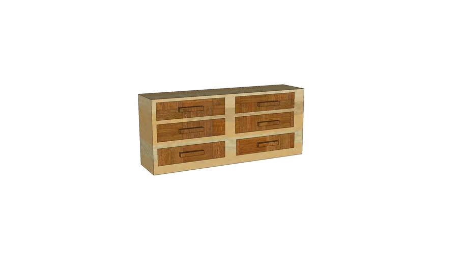 2 color wood dresser
