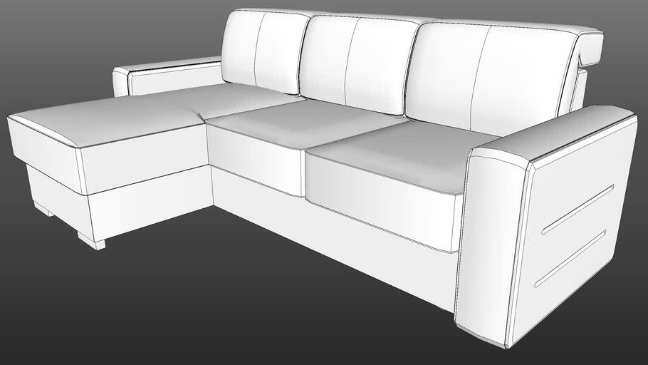 IWC|HOME - PORTO corner sofa lo-poly