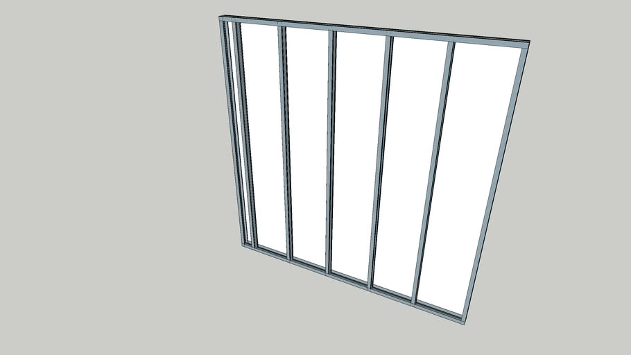 Typical Metal Stud Partition 70 x 2400 x 2400mm with 12mm Plasterboard