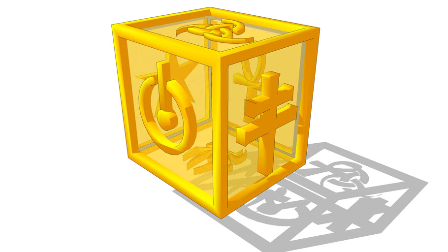 cubo em símbolos