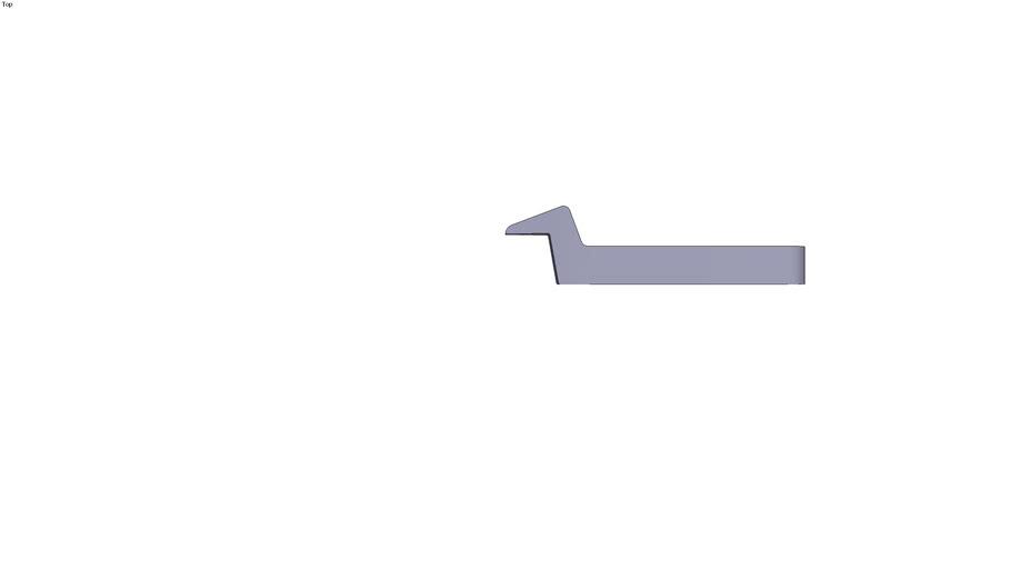 Swan neck clamp - 135 x 30 x 17 mm