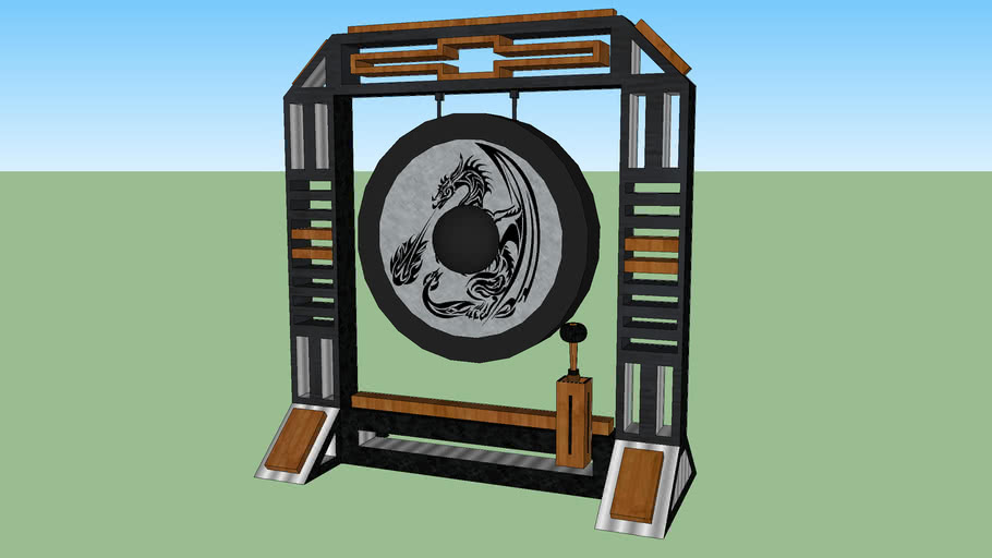 Dragon gong on new stand