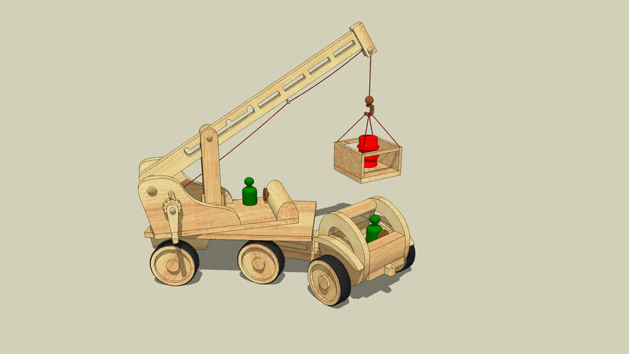 Wooden Toy Crane