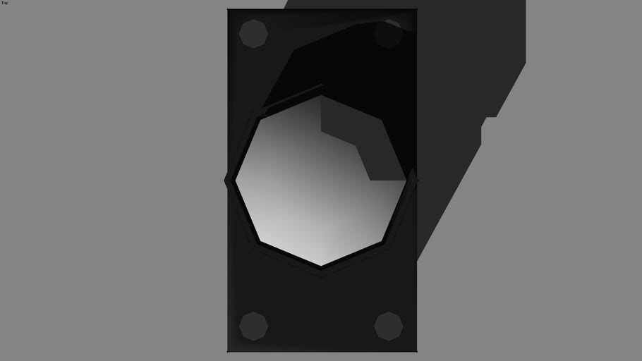 Low-poly push button (glue wall)