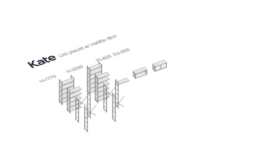 KATE Metāla plauktu sistēma