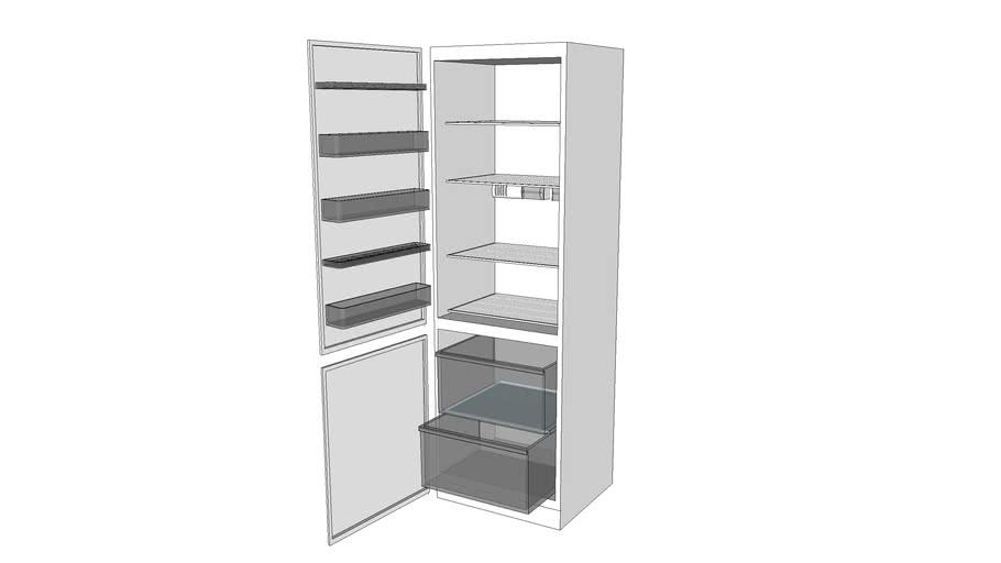Fridge-Freezer int - open doors