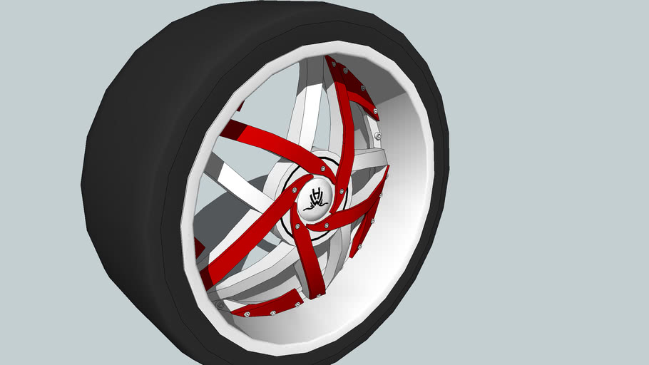 C-note chrome wheel red insert