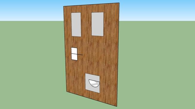 Door With Cat Flap