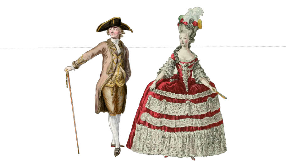 18th century 2D Man and Woman