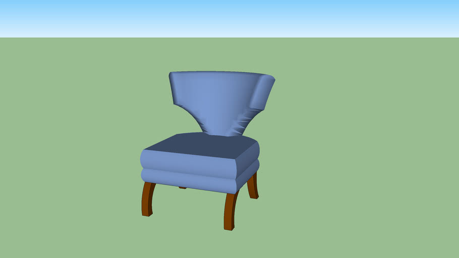 Apholstered side chair with curved back