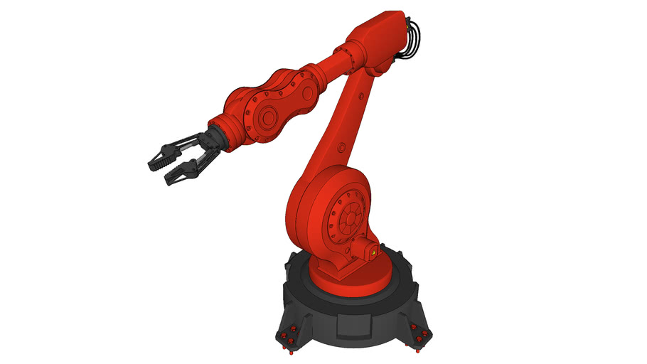 Robotic Arm - ramię przemysłowe - high poly model + rotation guide lines
