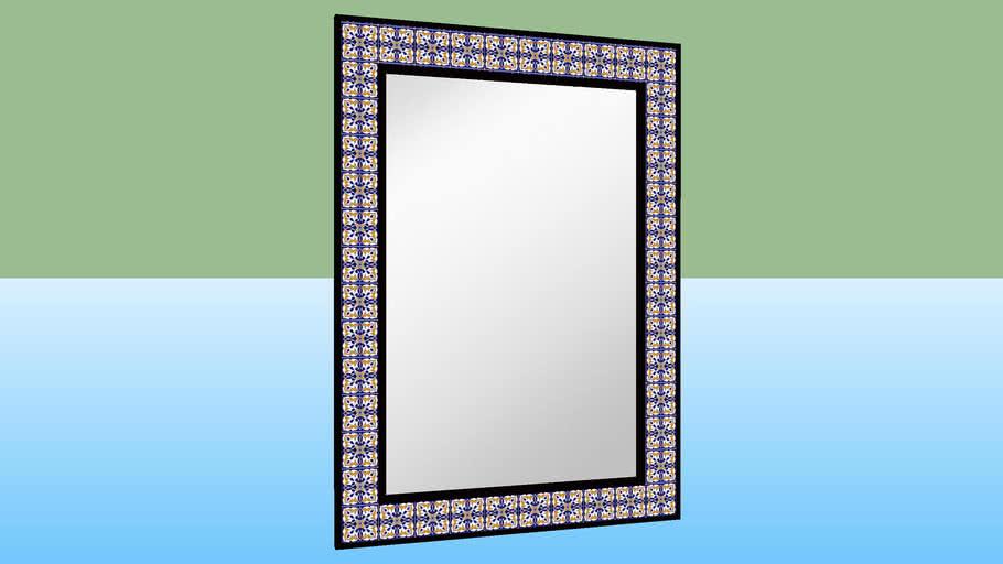 spanish tiled mirror