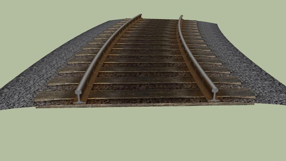 15° 25m radius curve section