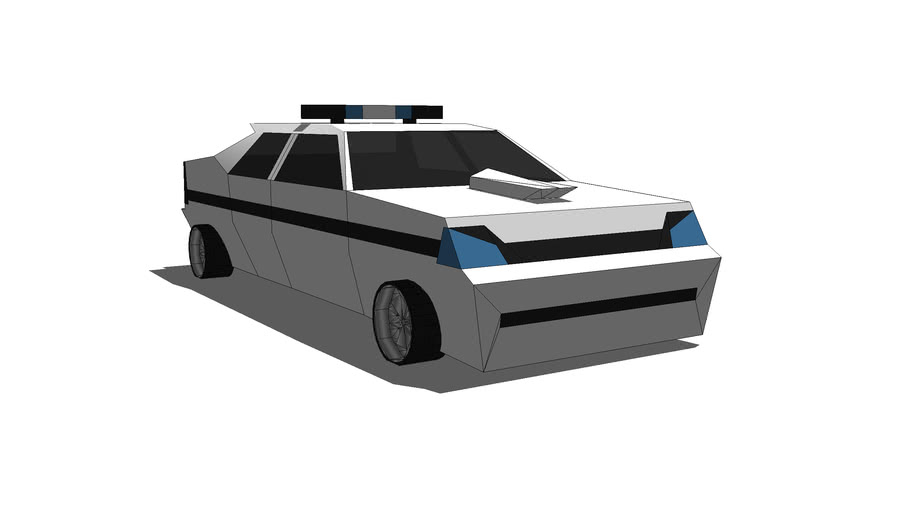 Tuning police car
