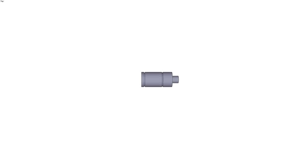 Ressort à gaz Mini-vérin M200 course 10 mm F0=17 daN