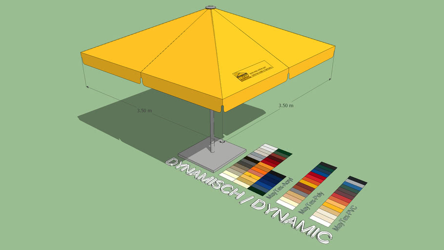 May Schattello 3.5x3.5m Square Market Umbrella