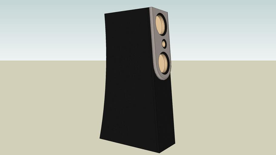 DIY Speaker Tower MTM Angled