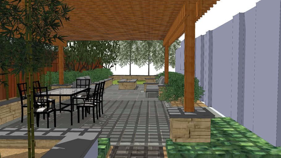 Outdoor Living Area and Landscape