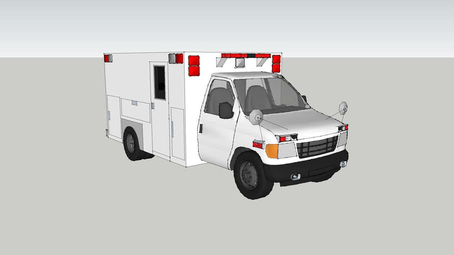 ambulance type lll ford f350 econoline model 1993