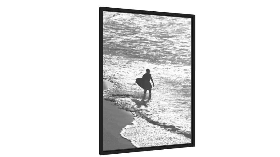 Quadro Surfista Prateado - Galeria9, por Cocobamboo Artwork
