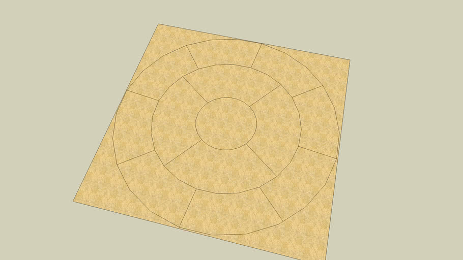 Patio Stone Circle