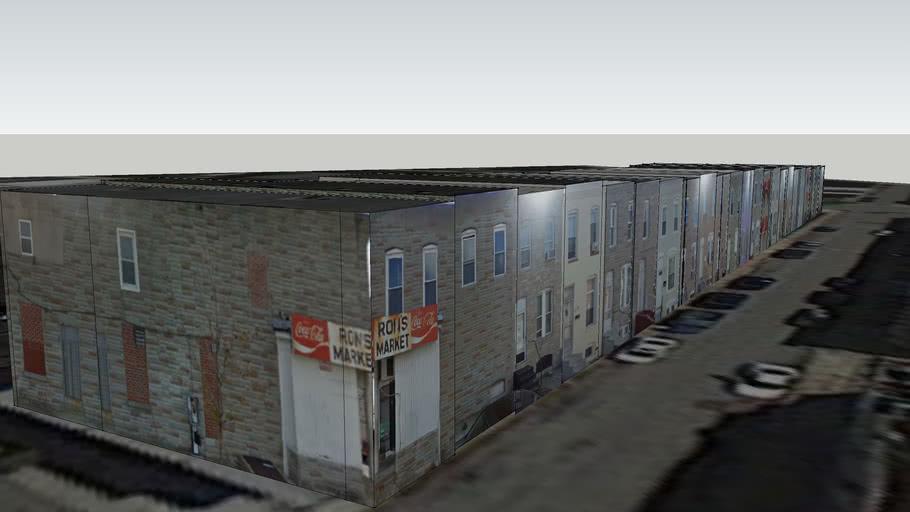 Miles Avenue Rowhomes, Baltimore