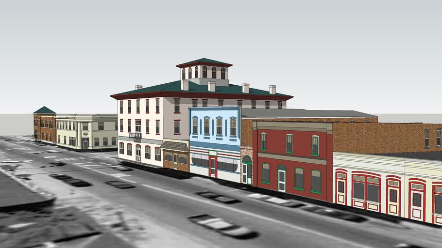 Main Street and Davis Street (West Side) Shops: Culpeper, VA