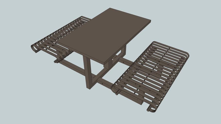 Hapsburg Portable Rectangular Table and Flat Seats