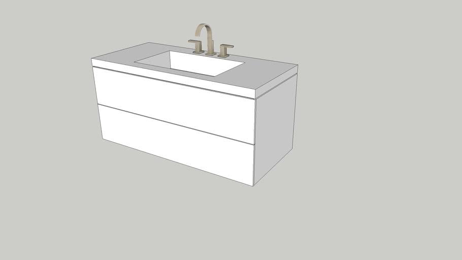 Wall Hung Vanity White 3d Warehouse, Bathroom Cabinet Warehouse
