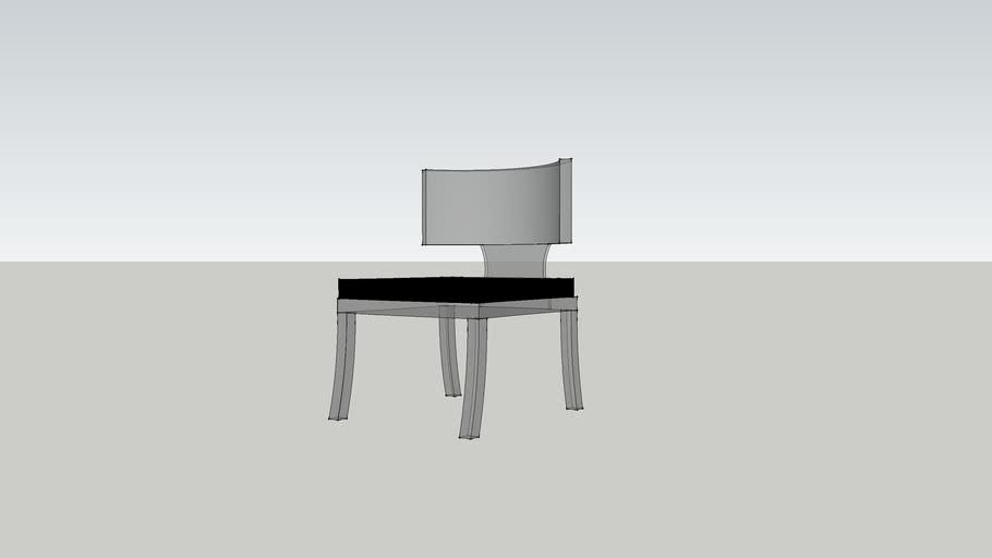 acrylic klismos chair