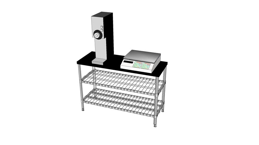 Grinder and Weigh Scale Table