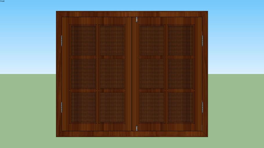 Janela madeira tipo 2
