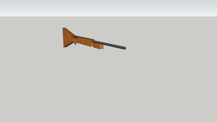 3d old fashion shotgun