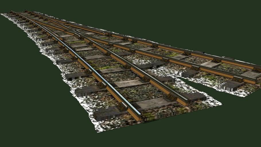 """""""Eco Rail.. N/Gauge""""..""""V"""" Points..  R/H....Old Steam Days.."""