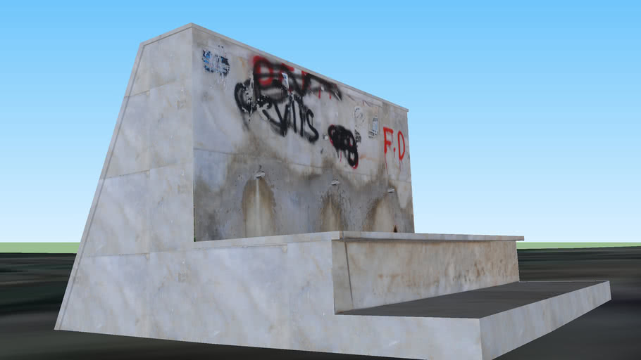 Mersin - Enteller Caddesi Girişindeki Çeşme [Created by Dj Fahrettin]