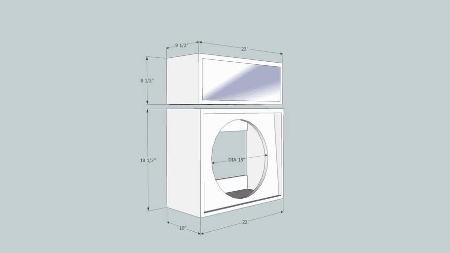 "Small 1x15"" speaker cabinet for bassman."