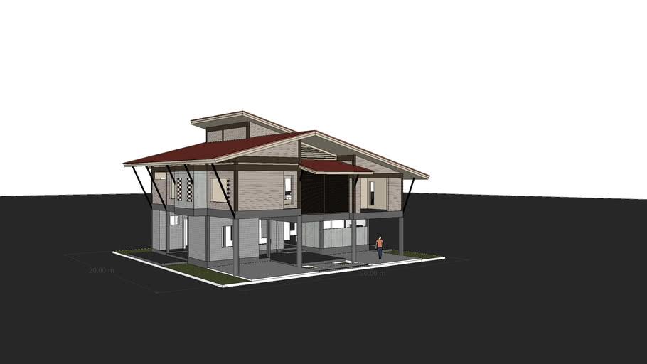 2 floor house design
