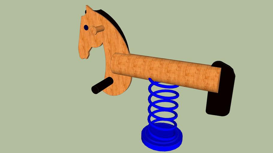 Houpací kůň na pružině
