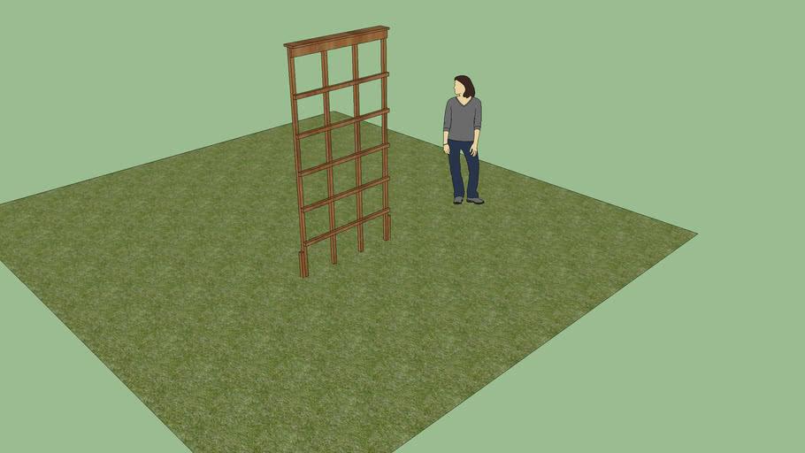 Simple 4x8 Garden Trellis