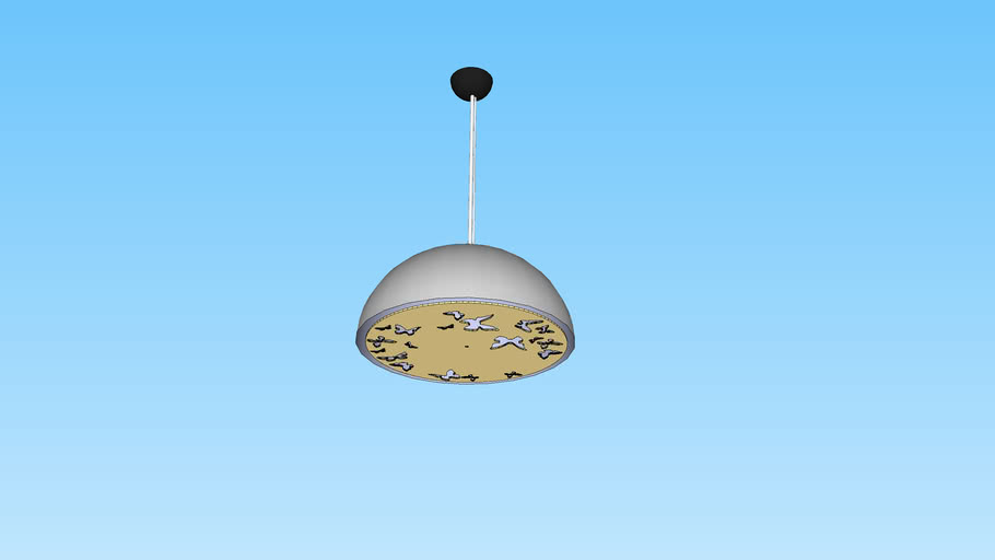 Atitlan Dome Pendant Lamp White-Gold
